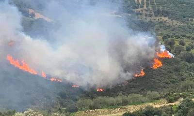 Κεραυνός η αιτία της πυρκαγιάς στον Ταϋγετο