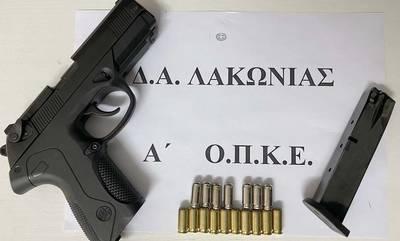 Συλλήψεις σε Λακωνία και Αργολίδα. 27χρονος με πιστόλι κρότου στη Σπάρτη!