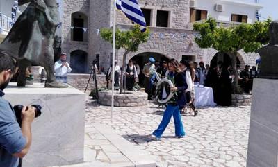 Η Σοφία Ζαχαράκη στις επετειακές εκδηλώσεις για τα 195 χρόνια από τη μάχη του Διρού