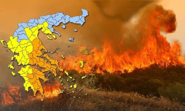 Πολύ υψηλός κίνδυνος πυρκαγιάς στην Πελοπόννησο. Δείτε τον χάρτη!
