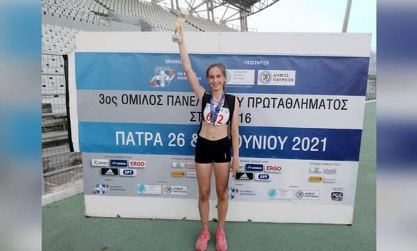 Ξανά Πρωταθλήτρια στο μήκος, η Δέσποινα Σταθάκη του ΓΑΣ Σκάλας