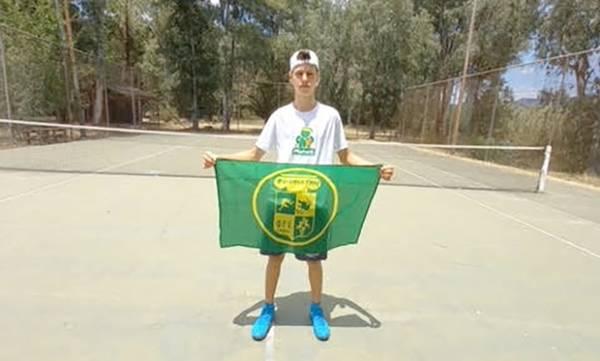 Φιλαθλητικος Γ.Σ. Σπάρτης: Ο Γιάννης Γεωργανές στο Πανελλήνιο Πρωτάθλημα τένις