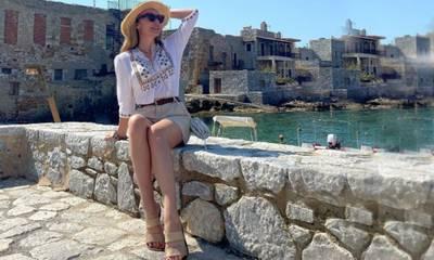H Τατιάνα Στεφανίδου επιλέγει για διακοπές Γερολιμένα κι εξηγεί…