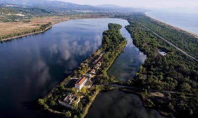 Ηλεία: Η πανέμορφη λίμνη Καϊάφα από ψηλά