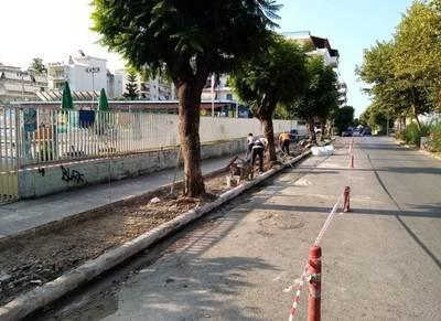 Καλαμάτα: Βελτίωση πεζοδρομίων σε γειτονιές και κεντρικά σημεία της πόλης