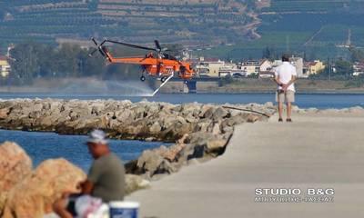 Δεύτερη μέρα μάχη στην πυρκαγιά στο Αραχναίο Αργολίδας