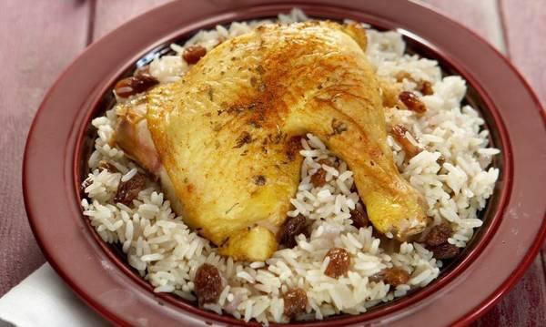Κοτόπουλο σαουρμά με πιλάφι