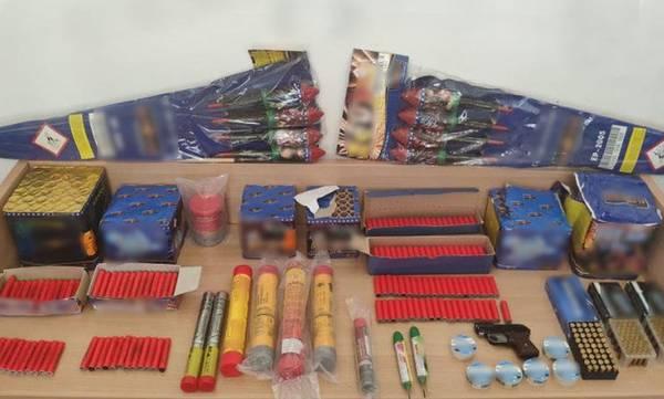 Συλλήψεις στη Μάνη για πυροτεχνήματα