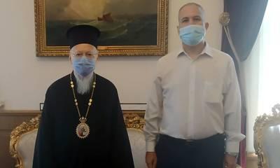 Ο Γεωργιτσιάνος Χρήστος Τσίχλης στον Οικουμενικό Πατριάρχη