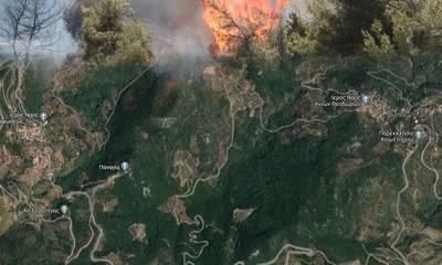 Εκκενώθηκαν χωριά στη Μάνη. Η πυρκαγιά κατευθύνεται στο Σελεγούδι!