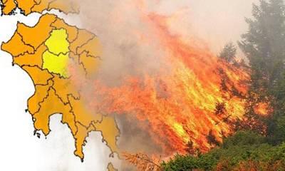 Η Λακωνία σε πορτοκαλί συναγερμό για πυρκαγιές! Δείτε που απαγορεύεται η κυκλοφορία!