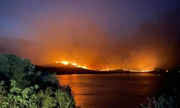 Γύθειο: Συγκλονιστικό βίντεο με πυροσβέστες που περνούν μέσα από τις φλόγες