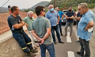 Περιοδεία του ΚΚΕ στις πυρόπληκτες περιοχές της Μάνης