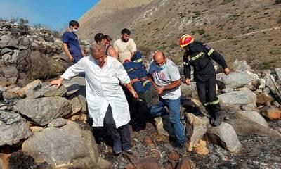 Επιχείρηση για μεταφορά ασθενούς από φωτιά στη Μάνη! (photos)