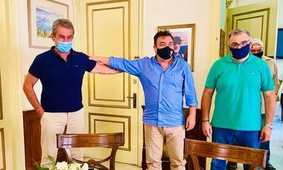 Πύργος: Συνάντηση του Παναγιώτη Αντωνακόπουλου με τον Ανδρέα Λοβέρδο