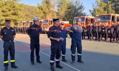 Βράβευσαν τους Γάλλους Πυροσβέστες που έδρασαν στη φωτιά της Γορτυνίας