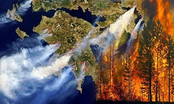 24 Αυγούστου 2007: Η Ελλάδακαίγεται! 84 άνθρωποι, 1500 σπίτια, 4,5 εκ. ελιές, 60.000 ζώα!