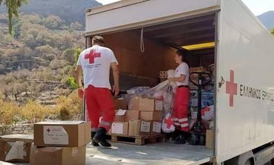Αρωγός στους πυρόπληκτους σε Μάνη και Γορτυνία ο Ελληνικός Ερυθρός Σταυρός