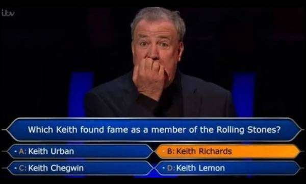 Η χειρότερη ερώτηση που έγινε ποτέ στο «γίνε εκατομμυριούχος»