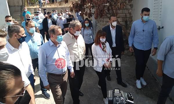 Στις πληγείσες περιοχές της Ηλείας η Πρόεδρος της Δημοκρατίας (photos)