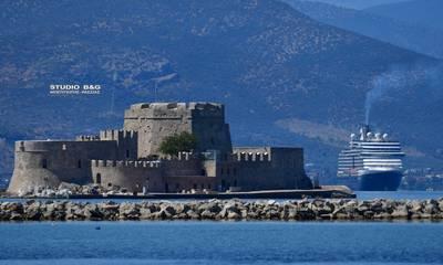 Eurodam: Από τη Μύκονο στο Ναύπλιο το τεράστιο κρουαζιερόπλοιο (photos)