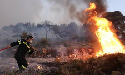 Ηλεία: Φωτιά σε εξέλιξη στοΜαρκόπουλο Τραγανού