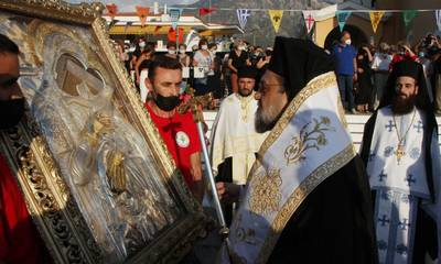 Την Εικόνα της Παναγίας Δημιοβίτισσας υποδέχθηκε η Καλαμάτα (photos)
