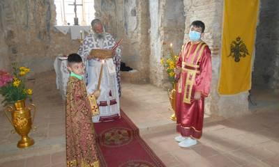 Λειτουργία στην Παναγία την Οδηγήτρια του βυζαντινού Μυστρά