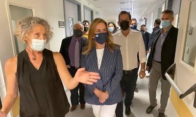 Το Παναρκαδικό Γ.Ν.Τρίπολης επισκέφθηκε η υφυπουργός Υγείας Ζωή Ράπτη