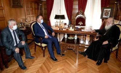 Συνάντηση Δημάρχων Γορτυνίας και Μεγαλόπολης με τον ΑρχιεπίσκοποΙερώνυμο