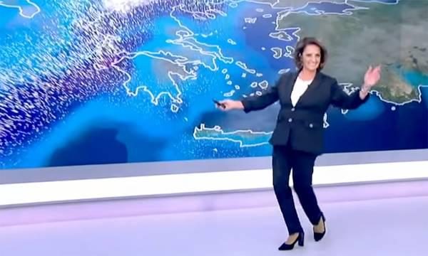 «Μπάλλος»: Η Χριστίνα Σούζη χόρεψε τον χορό της… κακοκαιρίας (video)