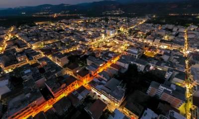 Σπάρτη: Ολοκληρώθηκε η αντικατάσταση των παλαιών φωτιστικών στο κέντρο με καινούργια τύπου LED