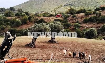 Κακοκαιρία «Μπάλλος»: Εδώ βρέθηκε νεκρός ο 69χρονος βοσκός (photos)