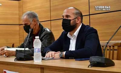 Ο γραμματέας του ΣΥΡΙΖΑ-Προοδευτική Συμμαχία Δημήτρης Τζανακόπουλος στο Ναύπλιο