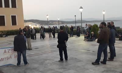 Πραγματοποιήθηκε η παράσταση διαμαρτυρίας των πυρόπληκτων αγροτοκτηνοτρόφων στο Γύθειο