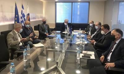 Ευρεία σύσκεψη για την ανασυγκρότηση του πυρόπληκτου Δήμου Ανατολικής Μάνης, στο υπουργείο