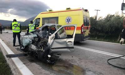 Νεκρός ο οδηγός που εγκλωβίστηκε σε τροχαίο δυστύχημα στο Άργος